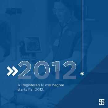 A Registered Nurse degree starts Fall 2012.